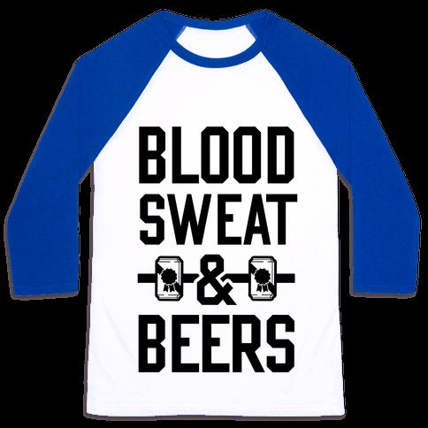 Blood Sweat & Beers Baseball Tee