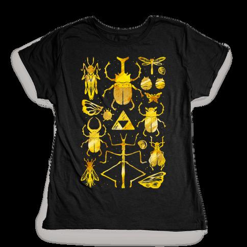Golden Bug Collector Womens T-Shirt