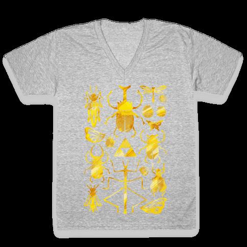Golden Bug Collector V-Neck Tee Shirt