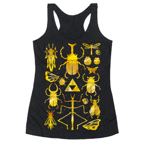 Golden Bug Collector Racerback Tank Top