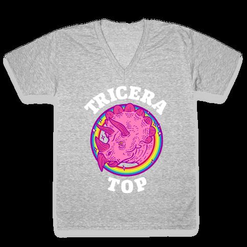 Tricera Top V-Neck Tee Shirt