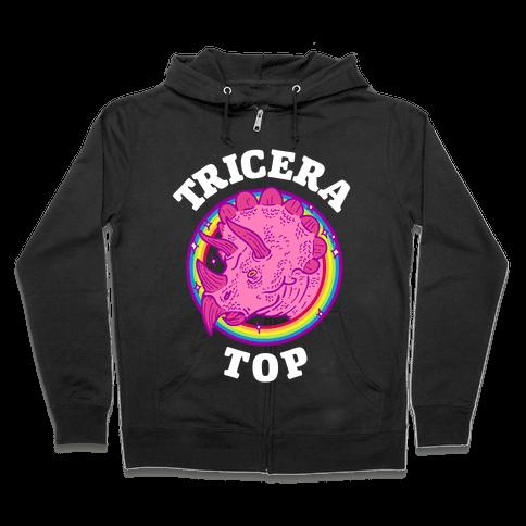 Tricera Top Zip Hoodie