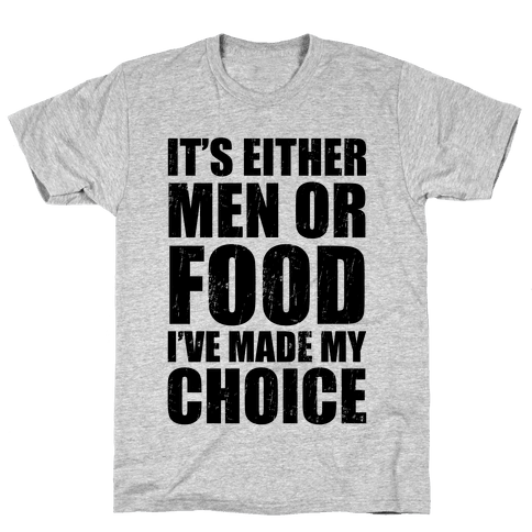 Men Or Food (Tank) Mens T-Shirt