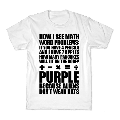 How I See Math Word Problems Kids T-Shirt