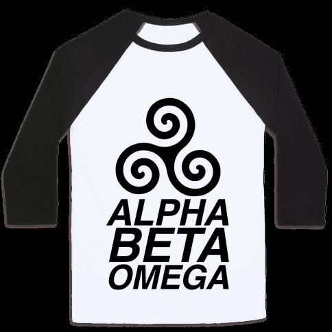 Alpha Beta Omega Baseball Tee