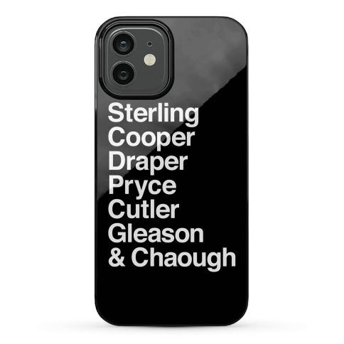 Mad Men Alphabet Phone Case