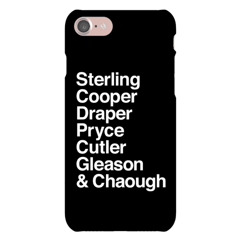 Mad Men Alphabet Phone Case