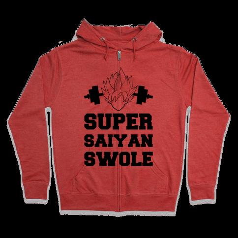 Super Saiyan Swole Zip Hoodie