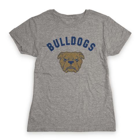 Bulldogs Red & Gold Womens T-Shirt