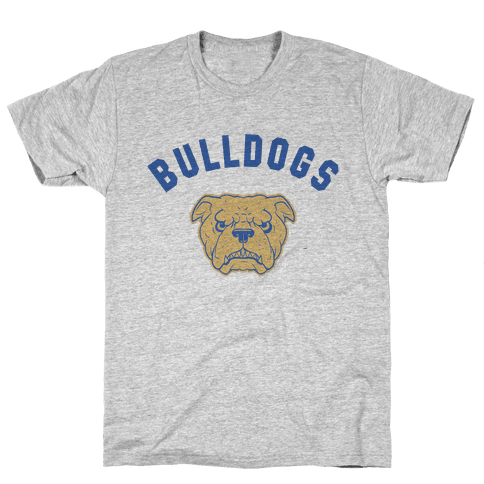 Bulldogs Red & Gold Mens T-Shirt