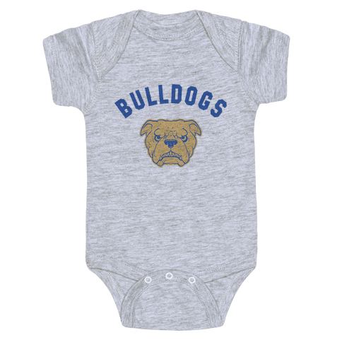 Bulldogs Red & Gold Baby Onesy
