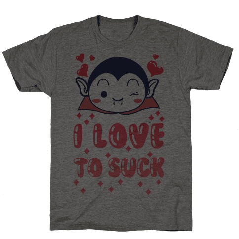 I Love To Suck Vampire Mens T-Shirt