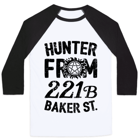 Hunter From 221B Baker St. Baseball Tee