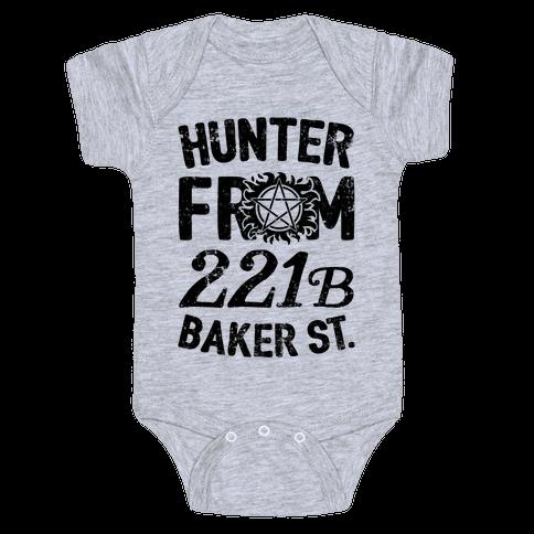 Hunter From 221B Baker St. Baby Onesy