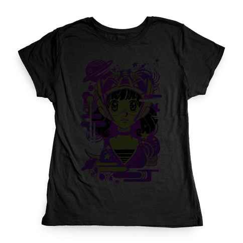 Neon Anime Space Cadet Womens T-Shirt