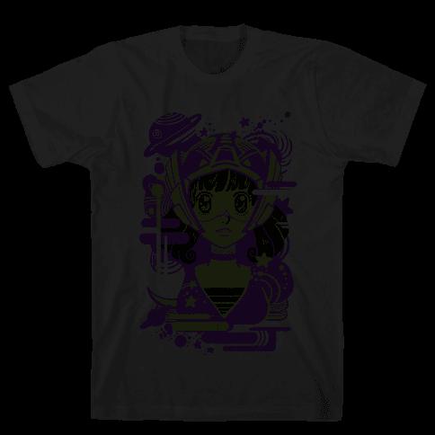 Neon Anime Space Cadet Mens T-Shirt