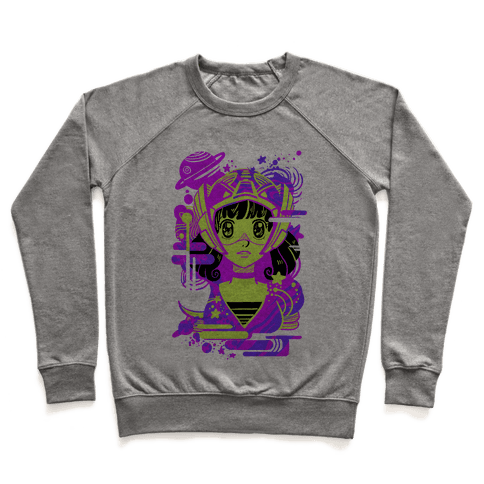 Neon Anime Space Cadet Pullover