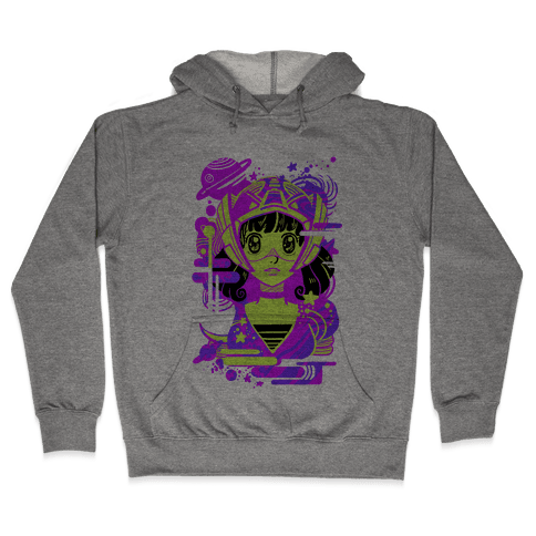 Neon Anime Space Cadet Hooded Sweatshirt
