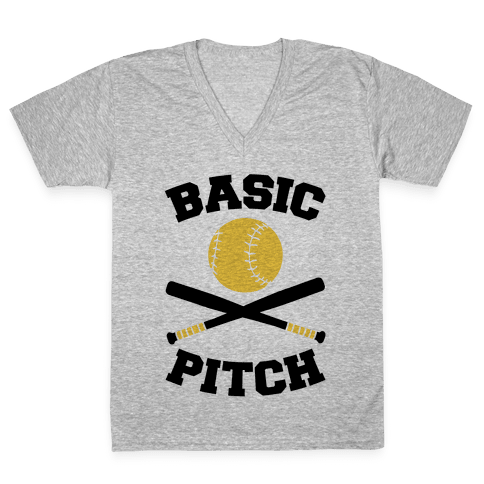 Basic Pitch V-Neck Tee Shirt