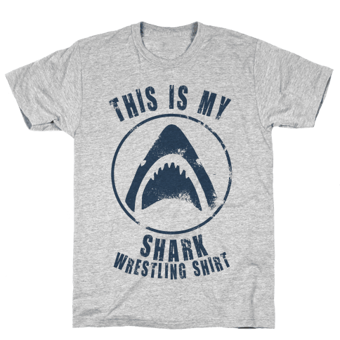 This Is My Shark Wrestling Shirt Mens T-Shirt