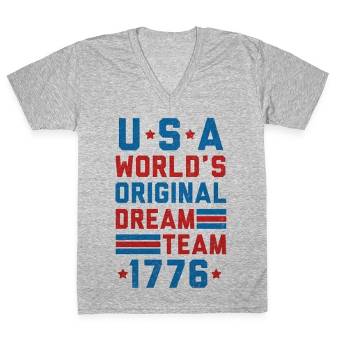 USA World's Original Dream Team 1776 V-Neck Tee | LookHUMAN