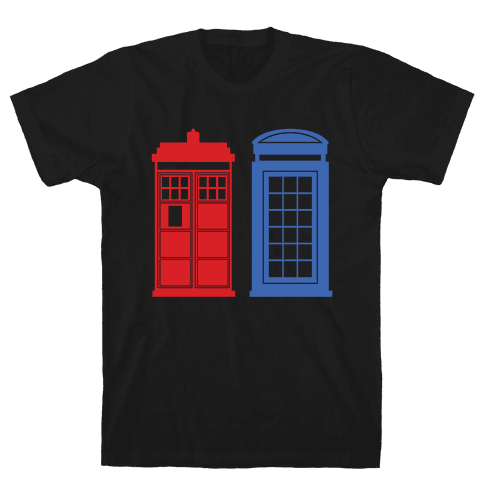 Doctor and Inspector Mens T-Shirt