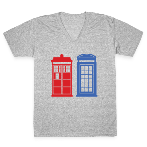 Doctor and Inspector V-Neck Tee Shirt