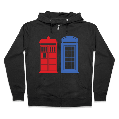 Doctor and Inspector Zip Hoodie