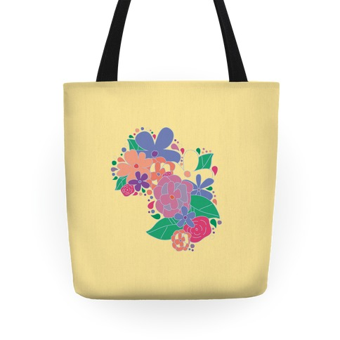 Flower Garden Tote (Yellow) Tote