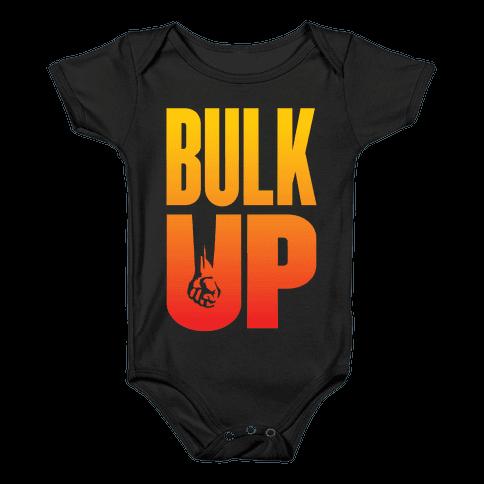 Bulk Up (Sunset) Baby Onesy