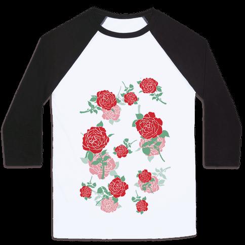 Falling Roses Baseball Tee