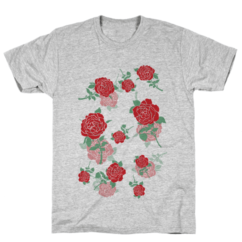 Falling Roses Mens T-Shirt