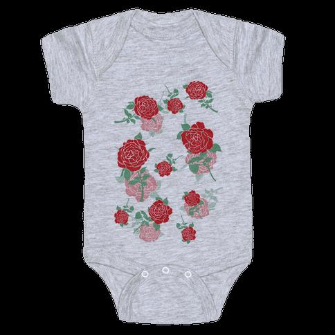Falling Roses Baby Onesy