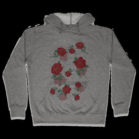 Falling Roses Hooded Sweatshirt