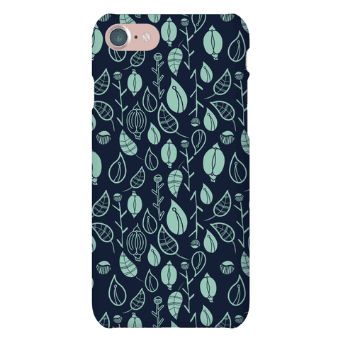 Florals Pattern (Navy) Phone Case