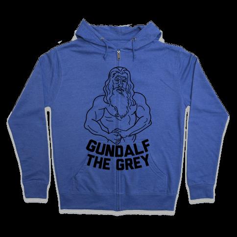 Gundalf The Grey Zip Hoodie