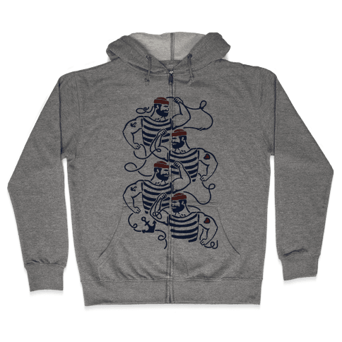 Knotty Sailors Zip Hoodie