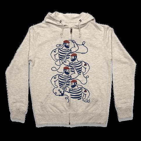 Knotty Sailors Zip Hoodie