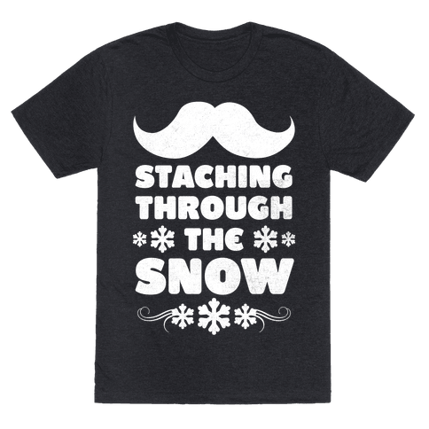 Staching Through the Snow (White Ink)