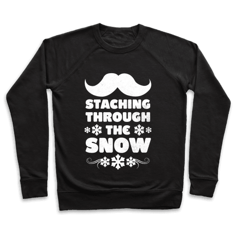 Staching Through the Snow (White Ink) Pullover