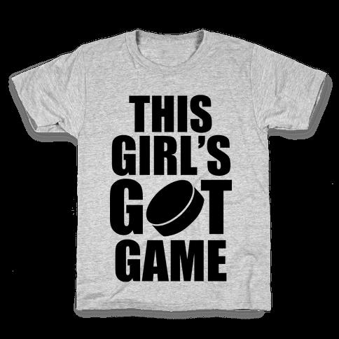 This Girl's Got Game (Hockey) Kids T-Shirt