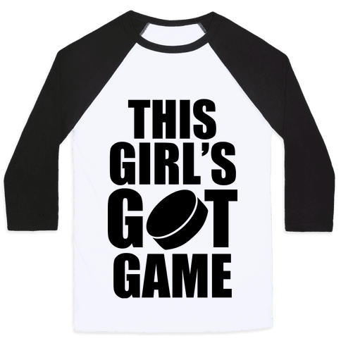 This Girl's Got Game (Hockey) Baseball Tee
