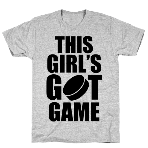This Girl's Got Game (Hockey) Mens T-Shirt