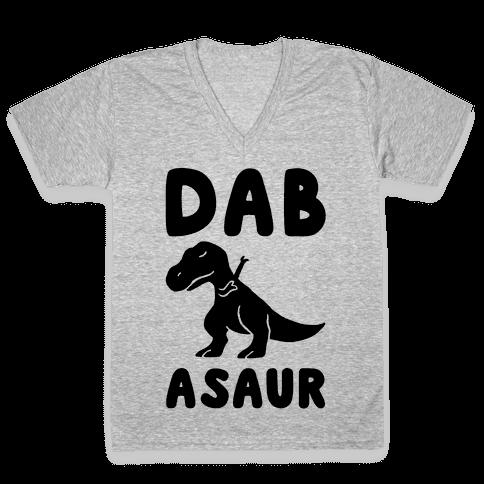 Dabasaur (Dabbing Dinosaur) V-Neck Tee Shirt