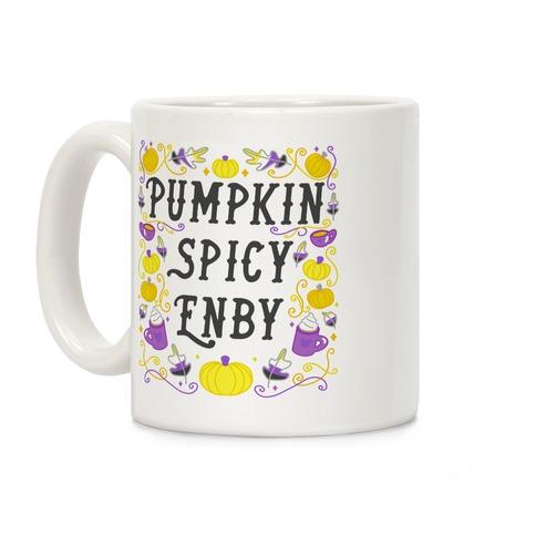 Pumpkin Spicy Enby Coffee Mug