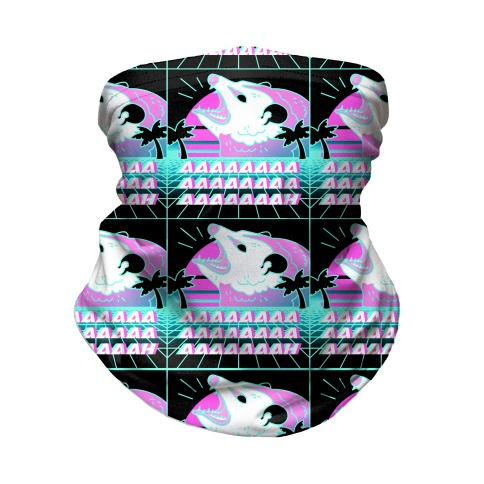 Screaming Retrowave Possum Neck Gaiter