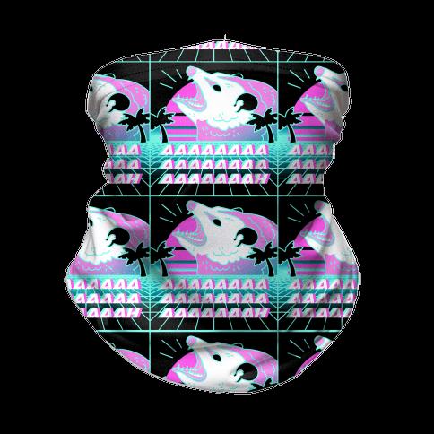 Screaming Retrowave Possum Neck Gaiter