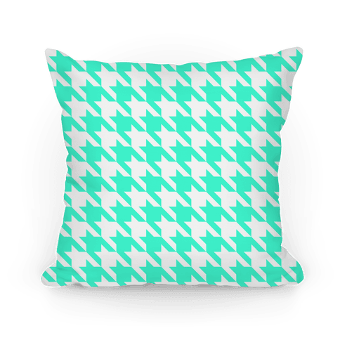 Houndstooth Pillow (mint) Pillow