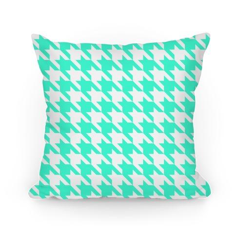 Houndstooth Pillow (mint)