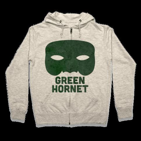 Green Hornet (Paired) Zip Hoodie